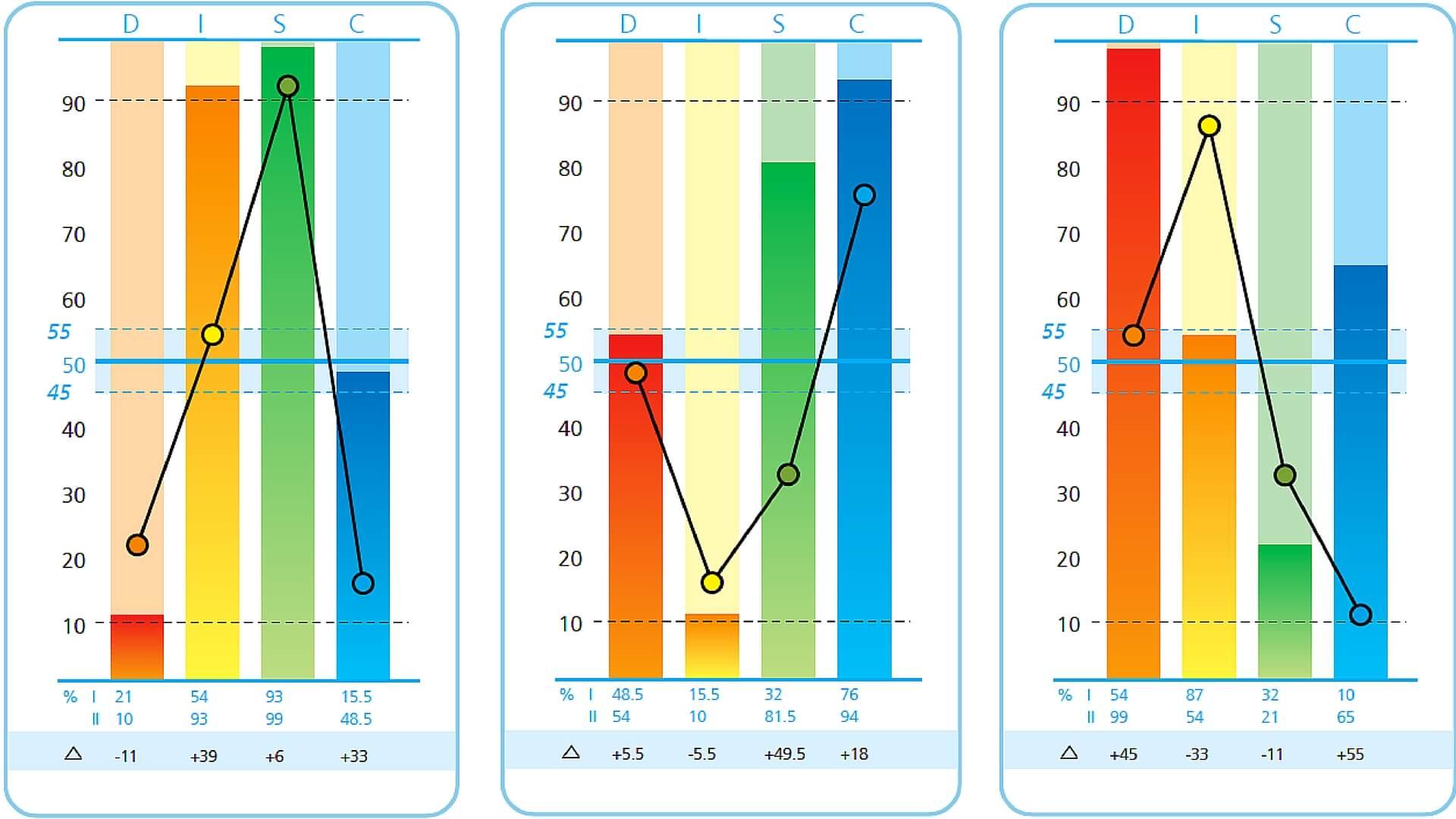Image result for voorbeeld grafiek DISC