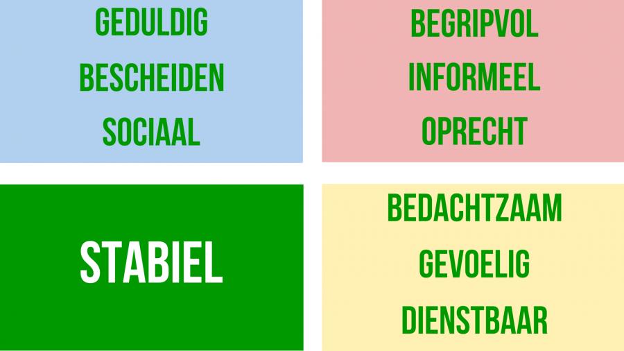 Stabiel en groen: De S-stijl van DISC