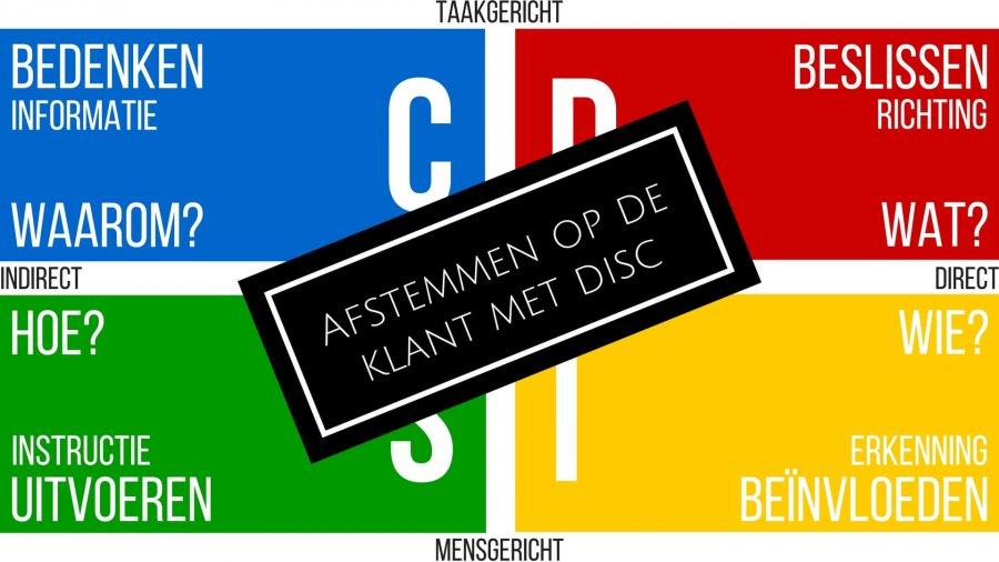 Beter afstemmen op de klant met DISC